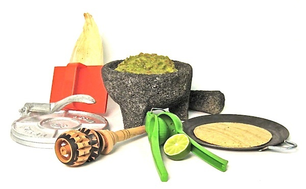 Picture of Mexican Cooking Utensils Deluxe Gift Set at MexGrocer.com - Item No. 15000