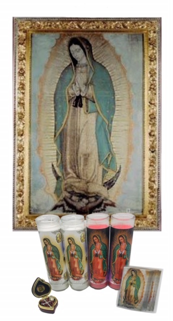 Picture of Our Lady of Guadalupe Kit Deluxe 7 units&nbsp;- Item No.&nbsp;15022