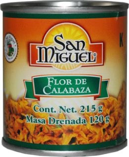 Picture of Flor de Calabaza / Zucchini Flower 7.57 oz by San Miguel (Pack of 3) - Item No. 15117