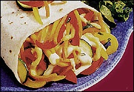 Picture of Veggie Cheese Pizza Wrap Recipe - Item No. 153-veggiecheesepizzawrap
