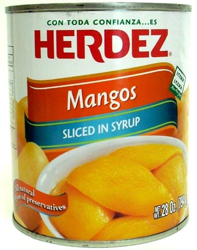 Picture of Herdez Sliced Mangos in Syrup 28 oz. - Item No. 1535