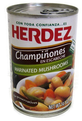 Picture of Herdez Mushrooms in Escabeche 14.1 oz - Item No. 1538