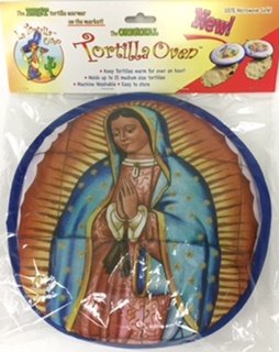 "Picture of La Tortilla Oven - Tortilla Warmer - Singing Chili Peppers Fabric Tortilla Warmer - 10"" - Item No. 1617"