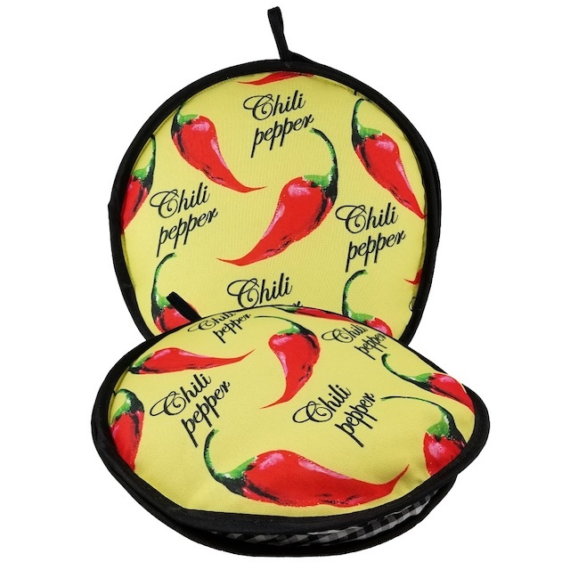 Picture of La Tortilla Oven &quot;Mexicali&quot; Color Chili Peppers Fabric Tortilla Warmer - NEW! 10 inch 10 inch&nbsp;- Item No.&nbsp;1623