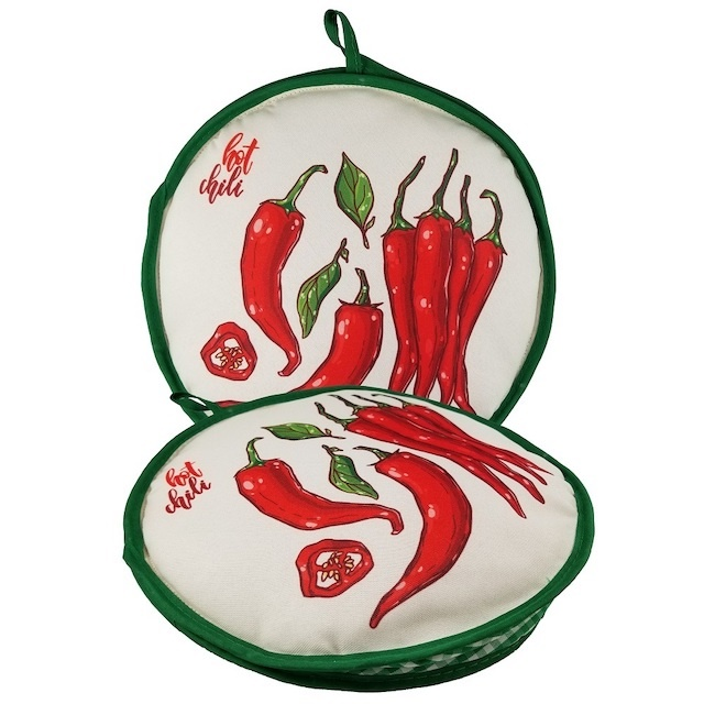 Picture of La Tortilla Oven Warmer - Medalion Chili Peppers 10 inch - Item No. 1627