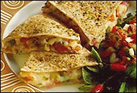 Picture of Mission Tortillas Veggie Quesadillas Recipe - Item No. 168-mission-veggie-quesadilla