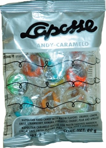 Picture of Laposse Mexican Candy - Napolitan Hard candy with raisin - Caramelos&nbsp;- Item No.&nbsp;17557-00106