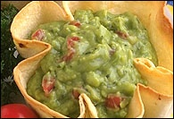 Picture of Sylvia's Guacamole - Mexican Recipe - Item No. 179-sylvias-guacamole-chips