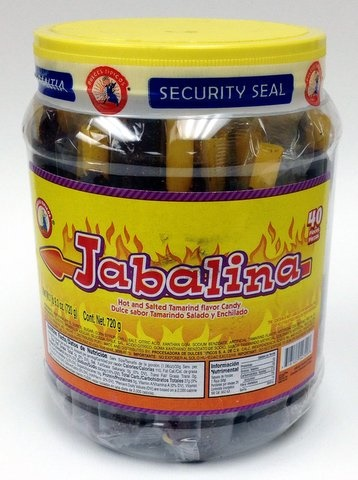 Picture of Jabalina Hot and Salted Tamarind Candy on a Stick 40 pieces - Item No. 18122-54729