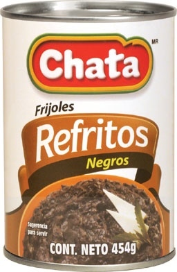 Picture of Chata Refried Black Beans 16 oz&nbsp;- Item No.&nbsp;1820