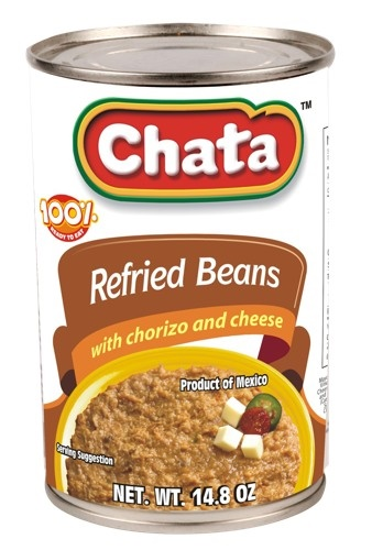 Picture of Chata Refried Beans with Chorizo and Cheese 14.8 oz - Item No. 1825