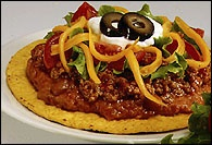 Picture of Easy Tostadas Mexican Recipe - Item No. 184-easytostada