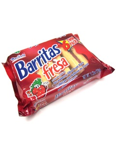Picture of Marinela Barritas de Fresa - Strawberry Filled Fruit Bars - 6 Twin Packs - 11.22 oz - Item No. 19506