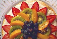 Picture of Fresh Fruit Dessert Pizza - Item No. 205-freshfruitdessertpizza