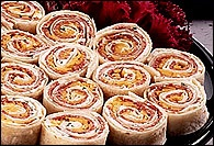 Picture of Salami and Cheese Pinwheels - Item No. 206-chilicheesewraps