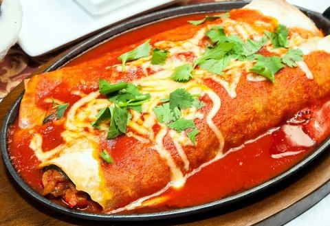 Picture of Skillet Enchiladas Mexican Recipe - Item No. 213-skillet-enchiladas