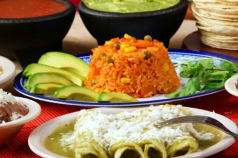 Picture of Sour Cream Green Enchiladas Recipe - Item No. 221-sour-cream-green-enchiladas