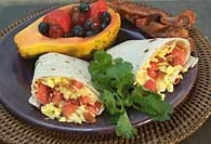 Picture of All-in-One Breakfast Burrito Recipe - Item No. 238-allinoneburrito