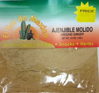 Picture of Ginger Ground- Gengibre Ajenjible Molido by El Sol de Mexico 1/2 oz - Item No. 2414