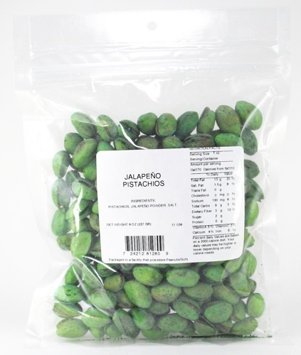 Picture of Jalapeno Pistachios by Premium Snacks&nbsp;- Item No.&nbsp;24212-81280