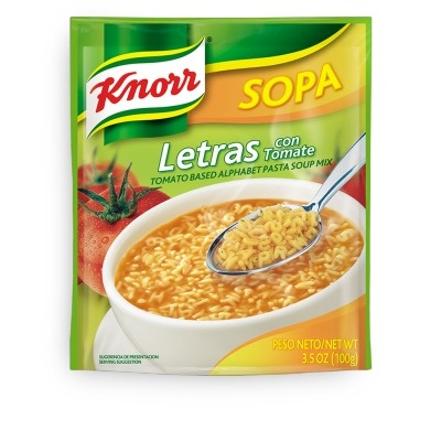 Picture of Knorr Pasta Letters Soup 3.5 oz.&nbsp;- Item No.&nbsp;2605