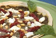 Picture of Pesto Goat Cheese and Sundried Tomato Pizza Recipe - Item No. 267-pestogoatcheesepizza