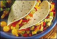 Picture of Swordfish Fajitas Mexican Recipe - Item No. 27-swordfish-fajitas