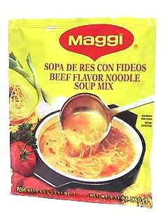 Picture of Maggi Beef Flavored Soup Mix with Noodles 2.11 oz. - Item No. 2711