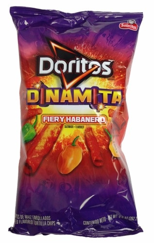 Picture of Doritos Fiery Habanero Flavored Tortilla Chips 12 oz bag - Item No. 28400-00483