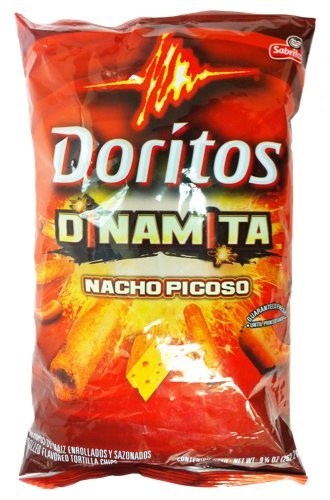 Picture of Doritos Dinamita Nacho Picoso Rolled Flavored Tortilla Chips - Item No. 28400-00987