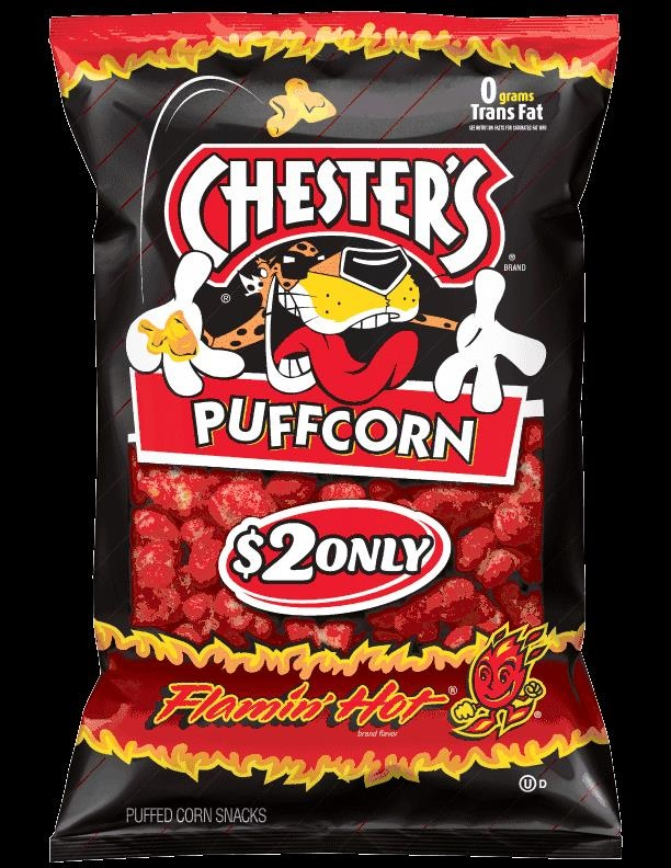 Picture of Chesters Puffcorn Flamin' Hot 5.5 oz&nbsp;- Item No.&nbsp;28400-01406