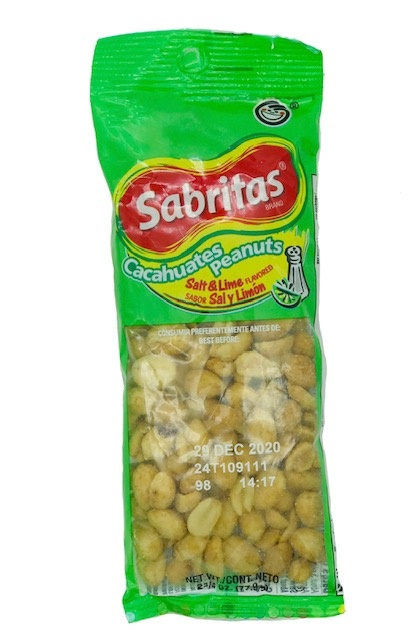 Picture of Sabritas Salt & Lime Peanuts (1 5/8 oz) 12 pack - Item No. 28400-078412