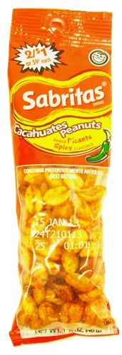 Picture of Sabritas Spicy Peanuts 1 5/8 oz (Pack of 12) - Item No. 28400-078436