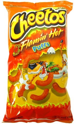 Picture of Cheetos Flamin' Hot Puffs Jumbo 8.5 oz - Item No. 28400-08396