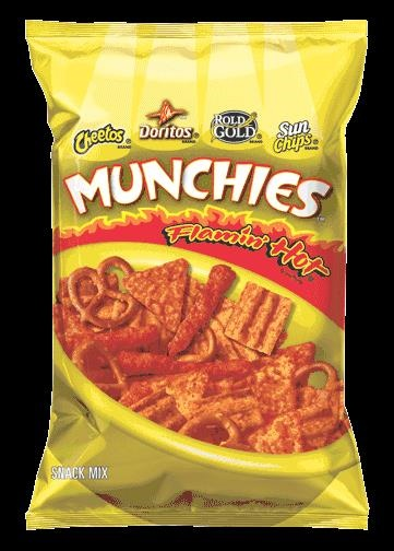 Picture of MUNCHIES Flamin' HOT Snack Mix 8 oz bag - Item No. 28400-08405