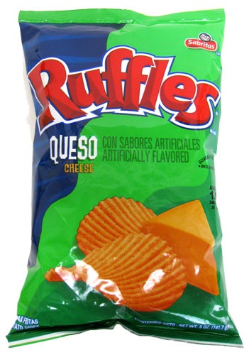 Picture of Ruffles Queso Potato Chips 6.5 oz by Sabritas (Pack of 3) - Item No. 28400-09131