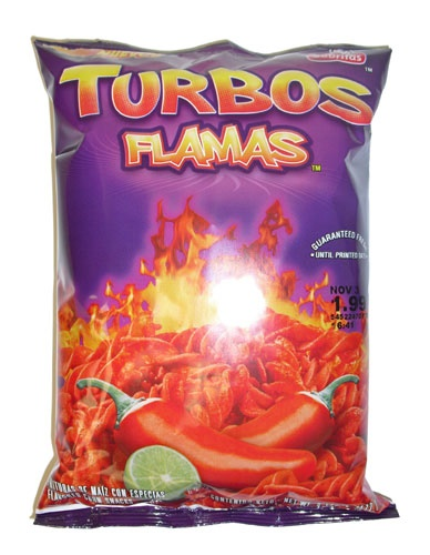 Picture of Sabritas Turbos Flamas Flavored Corn Snacks 9.25 oz - Item No. 28400-09743