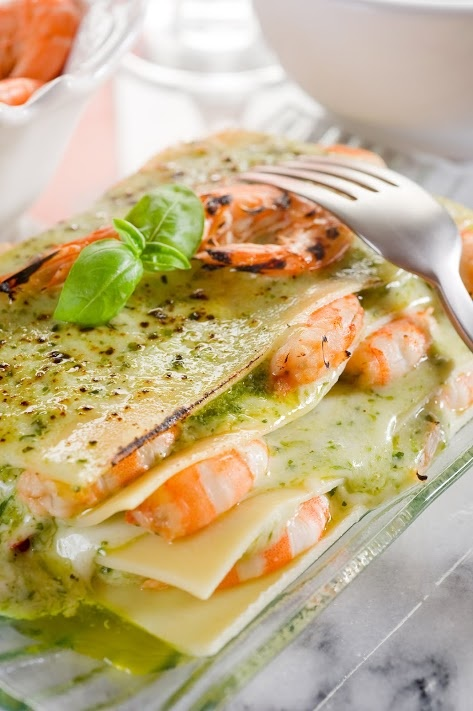Picture of Seafood Tortilla Lasagna Recipe - Item No. 287-seafood-tortilla-lasagna