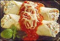 Picture of Tortilla Manicotti - Item No. 29-tortilla-manicotti