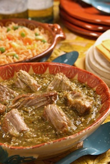 Picture of Pork in Green Sauce - Del Real Foods Chile Verde 32 oz&nbsp;- Item No.&nbsp;29793-00111