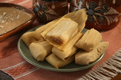 Picture of Pork Tamales - Del Real Foods Gourmet Pork Tamales in Red Sauce 10 count - Item No. 29793-01221