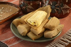 Picture of Tamales - Del Real Foods Gourmet Cheese Tamales and Green Chile 12 count - Item No. 29793-01291