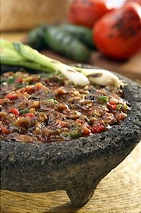 Picture of Del Real Foods Fire Roasted Fresh Red Salsa / Salsa de Molcajete Roja - Item No. 29793-05044