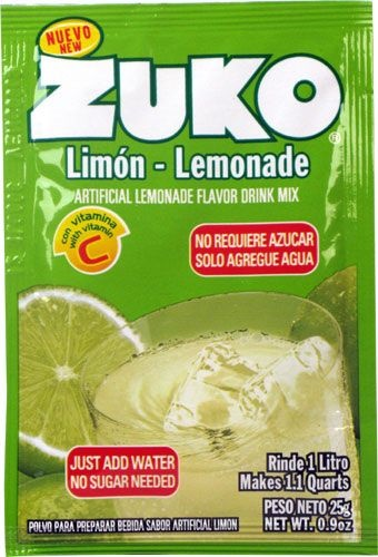 Picture of Zuko Lemonade Flavor Drink Mix (1 Liter / 0.9 oz) 3 Pack - Item No. 30108-00010