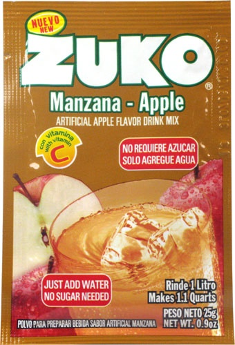 Picture of Zuko Apple Flavor Drink Mix (1 Liter / 0.9 oz) 3 Pack - Item No. 30108-00011