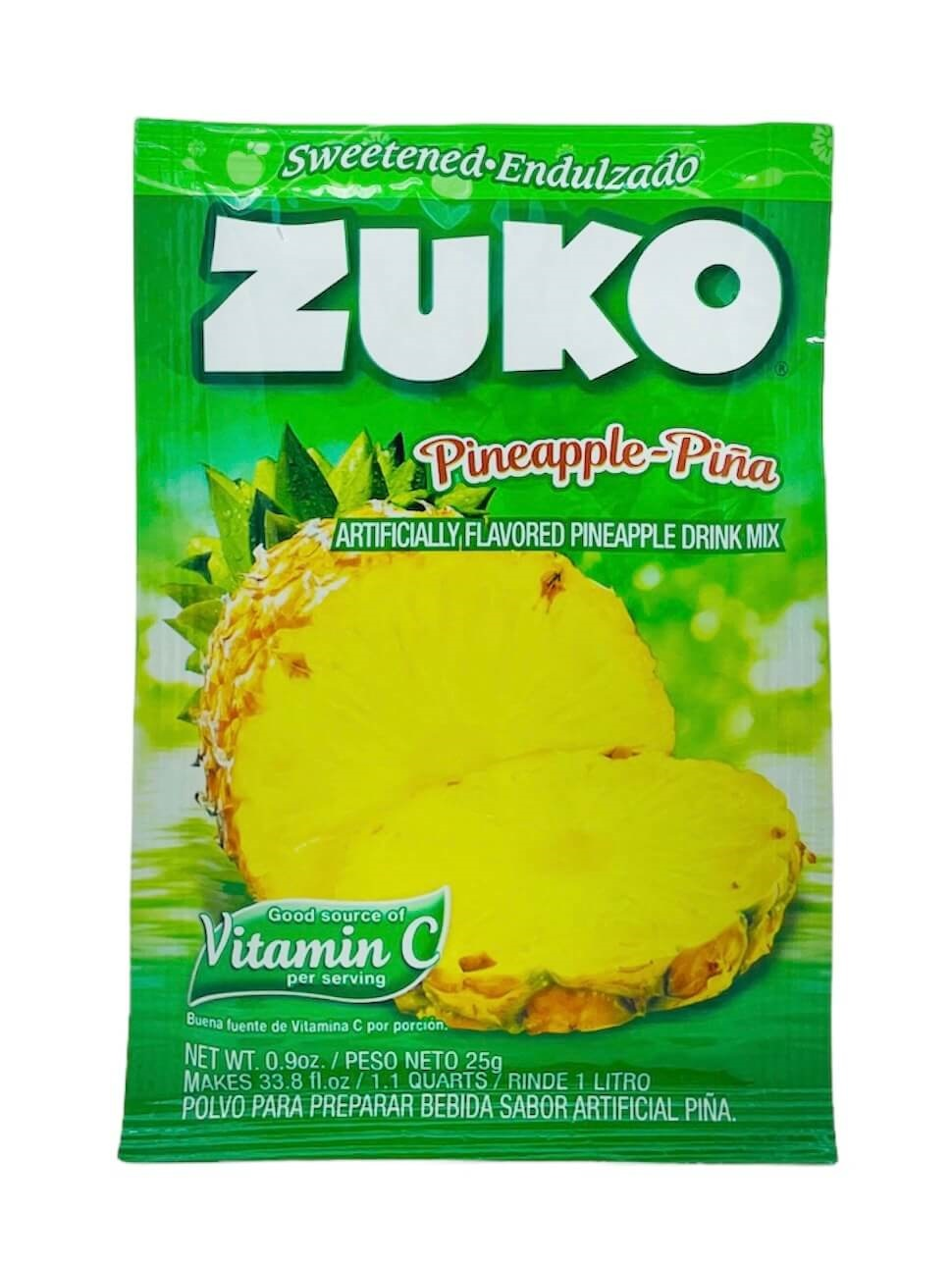 Picture of Zuko Pineapple Flavor Drink Mix (1 Liter / 0.9 oz) 3 Pack - Item No. 30108-00013
