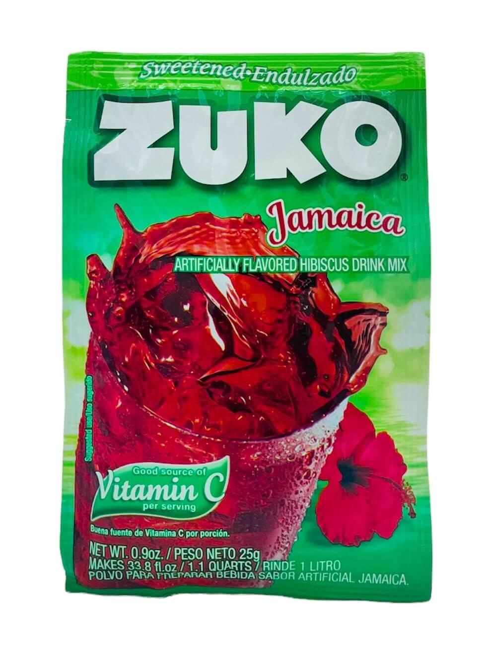 Picture of Zuko Hibiscus - Jamaica Flavor Drink Mix (1 Liter / 0.9 oz) 3 Pack- Item No.30108-00018