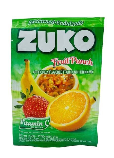 Picture of Zuko Fruit Punch Flavor Drink Mix (1 Liter / 0.9 oz) 3 Pack- Item No.30108-00019