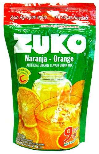 Picture of Zuko Orange Flavor Drink Mix (8.6 Liters) 14.1 oz - Item No. 30108-00035