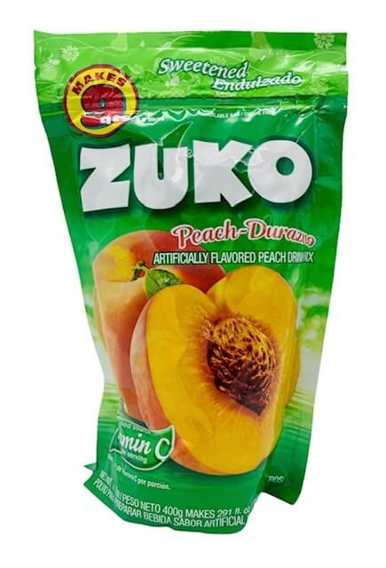 Picture of Zuko Peach Flavor Drink Mix (8.6 Liters) 14.1 oz&nbsp;- Item No.&nbsp;30108-00036